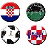 Football World Cup Badges (Set Of 4) | Croatia