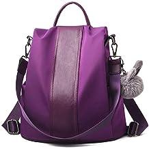 Barwell Mujeres Mochila Señoras Mochila Impermeable Nylon Mochilas escolares Anti-robo Dayback Shoulder Bags