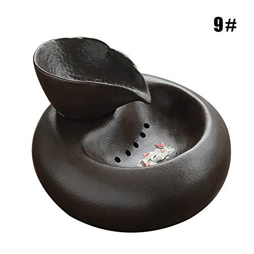 Gakoz Katze Keramik Wasserbrunnen Automatischer Haustier Trink Brunnen Ruhig Elektrisches Wasser Spender - 9, Medium