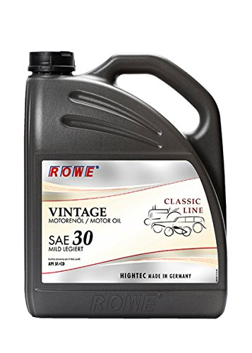 ROWE Hightec Vintage SAE 30 mild legiert - 5 Liter Oldtimer, Youngtimer Motoröl, mineralisch | Made in Germany