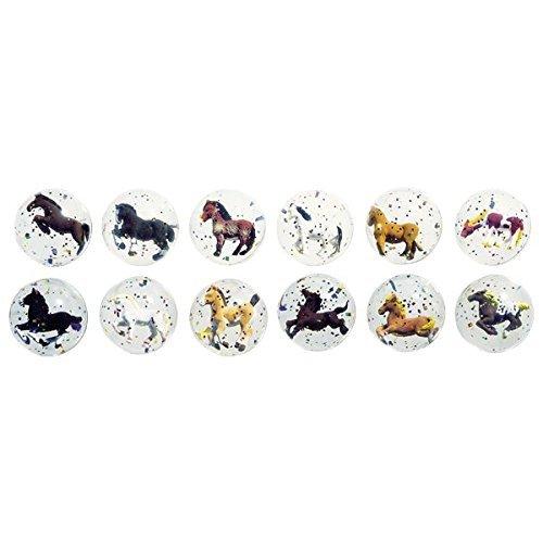 6x-Flummi-mit-Pferde-Einschluss-Mitgebsel-Pferdeparty-Pony-FlummyPferdeflummy
