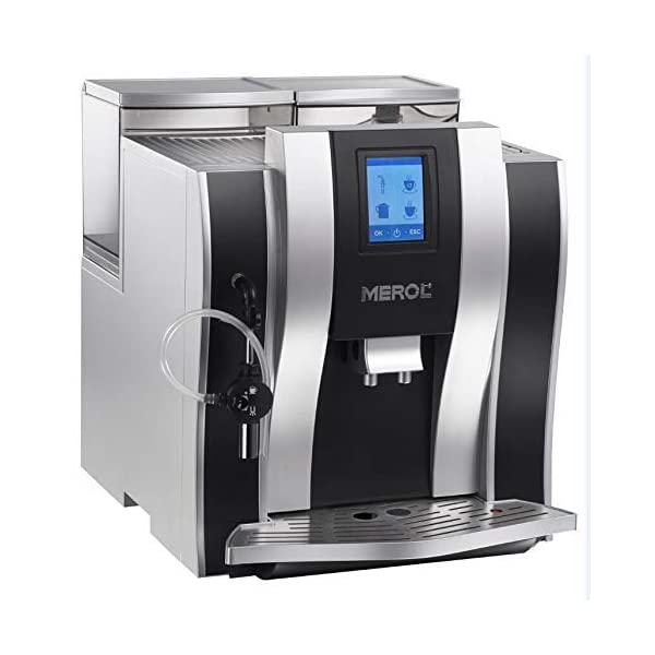 ALDXC27-ME-711,Commercial Italian Full Automatic Grinding Steam Coffee Machine Office Wholesale me – 711 Silver Black 41m0zRRksjL