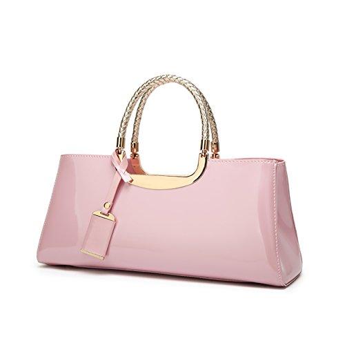 Damen Handtaschen PU Lackleder Coolives Elegant Henkeltasche Taschen Abendtasche Mode Handtaschen Schultertaschen Glänzend Umhängetasche Für Frauen rosa