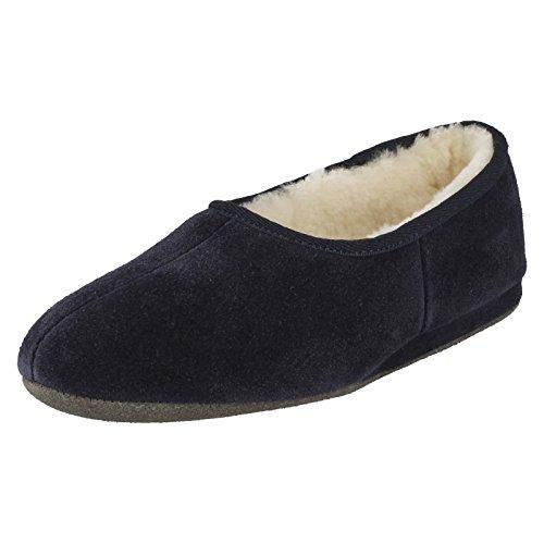 Donne Mentre Tre Pantofole Colori In Blu Ayr Marino Pelle Blu Morlands T5w5q1H6