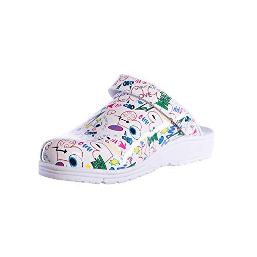 Sanita Footwear Slipper Clogs Hausschuhe, Farbe: Comic White, Größe: 41
