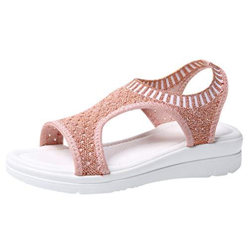 TMOTYE Sandalen Damen, Sommer Neue Koreanische Version Von LäSsigen, Schlichten, Weichen, Fliegenden, Weiblichen Sandalen Aus Netzgewebe, GrößE 35-45 -