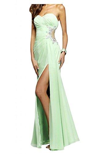 Toscane mariée REIZ plein forme de cœur mousseline & tuell soir StandART42Long Demoiselle d'Honneur Party Abi Balle Vert - Salbei