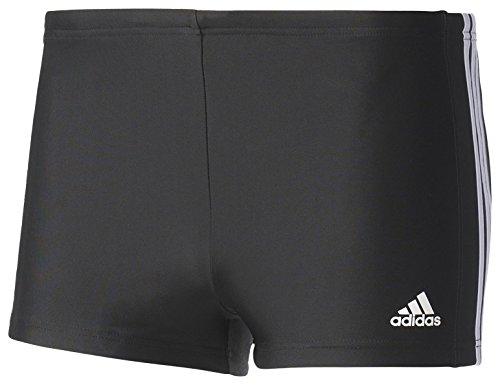 adidas Herren Essence Core 3 Stripes Badehose, Black/White, 10 (Männer Adidas Bademode)