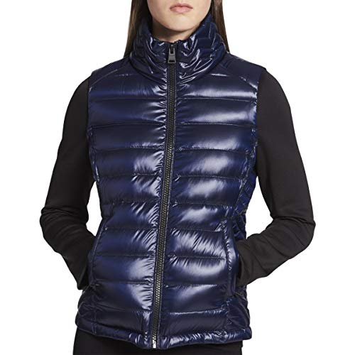 Calvin Klein Performance Women's Down-Filled Puffer Jacket (Metallic Night, S)
