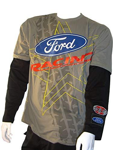 Ford omse Fiesta Extreme Rally Kreuz Longsleeve grau schwarz Herren T-Shirt  X-Large 451d2c71c2ef