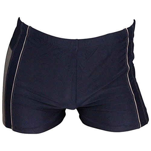Herren Badehose Retro Badeshorts Größen M L XL 2XL ** viele Farb-Varianten ** rot/aquablau