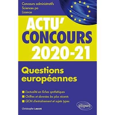 Questions européennes 2020-2021 - Cours et QCM