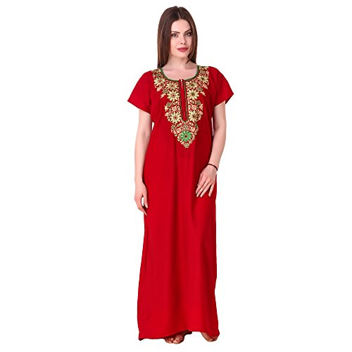 ₹566.00. BOMBSHELL Best Fabric of Cotton Long Embroidered Nighty for Women    Ladies(Bust Size Upto 44 inches) 69ab23870