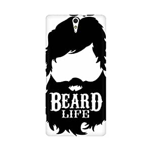 Mobicture Beard Life Premium Printed High Quality Polycarbonate Hard Back Case Cover for Sony Xperia C5 With Edge to Edge Printing