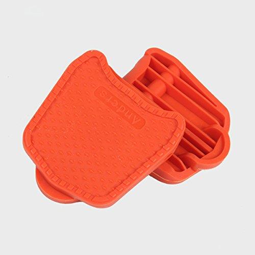 Chooee Clipless Platform compatibile con tacchetti per Shimano Wellgo SPD Speedplay, Orange Orange