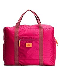 TOOGOO(R) Red Nylon Foldable Travel Bags Handbags Waterproof Bags For Business And Travel Large Capacity Shoulder...