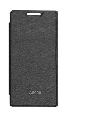 Dashmesh Shopping Premium Durable Flip Cover Case For Lenovo A6000 Plus BLACK COLOR with Screen Guard