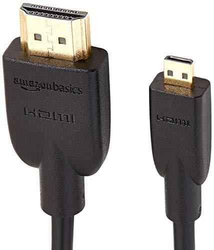 AmazonBasics - Cable adaptador Micro HDMI a HDMI - 1,83 (2-Pack)m (estándar más reciente)