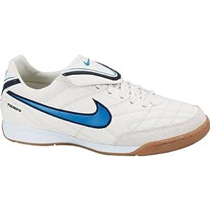 Nike Hallenfußballschuh Tiempo Mystic III IC, weiß/blau, Gr. 45,5 (US11.5)