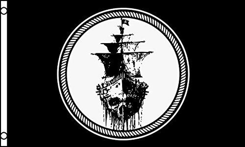 Flagge Pirat schwarze Meer 150x 90cm–Flagge Corsaire Totenkopf 90x 150cm–Flaggen–AZ Flag