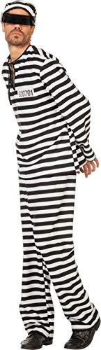 Kostüm Schwarz Und Gefangenen Weiß - Stekarneval Kostüm Gefangener Sträfling schwarz-Weiss 62