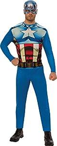 Marvel - Disfraz de Capitan América para hombre, Talla XL adulto (Rubie