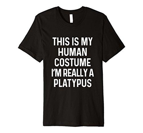 Funny Schnabeltier Kostüm Shirt Halloween Männer Frauen Kinder
