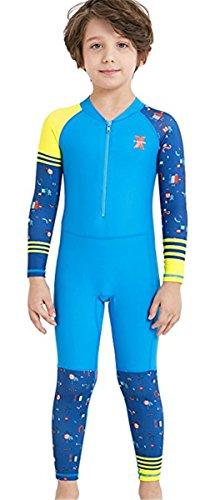 Baby Jungen Mädchen Schwimmanzug UPF 50+ Neoprenanzug UV Schutz Langarm Badeanzug für Wassersport S