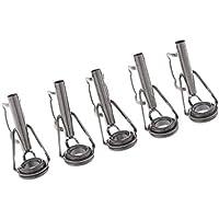 NON Sharplace 5X Guía de Cañas de Pescar Acero Inoxidable Top Tip Rings DIY Kit Reparación Varillas - 005