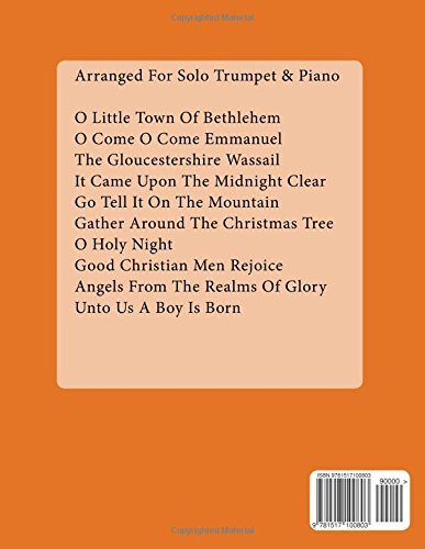 Christmas Carols For Trumpet With Piano Accompaniment Sheet Music Book 3: 10 Easy Christmas Carols For Solo Trumpet And Trumpet/Piano Duets: Volume 3