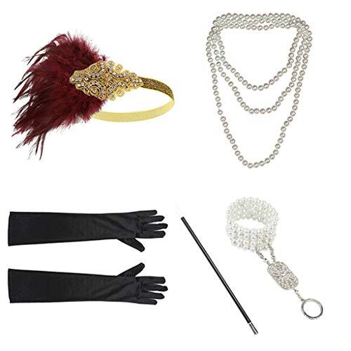 corative Handmade Artificial Hair Barrettes Hair Pins Hair Clips Hair Accessories,Zubehör-Set Stirnband Handschuhe Zigarettenspitze Halskette Armbänder ()