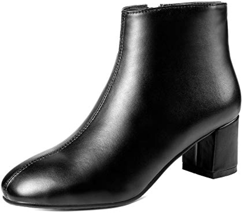 HOESCZS 2019 Stivaletti Donna Moda Donna Scarpe Tacco Alto Moda Nero Inverno Stivali Zipper Donna Stivali Taglia... | Buy Speciale  | Sig/Sig Ra Scarpa