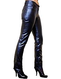 840396b6d9 RICANO Dorin Slim Fit Damen Lederhose im 5-Pocket Stil (Jeans Optik) aus  Lamm Nappa Echtleder in Verschiedenen…