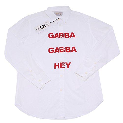 7401Q camicia uomo DEPARTMENT 5 bianco shirt long sleeve men [40]