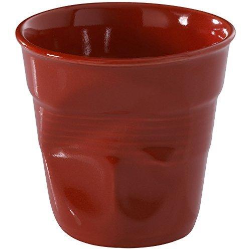 Revol Froisses 636513 Cappuccino Crumple Tumbler, Pepper Red by Revol