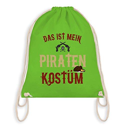 Anlässe Kind - Das ist mein Piraten Kostüm - Unisize - Hellgrün - WM110 - Angesagter Turnbeutel / Gym Bag