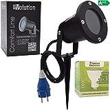Evolution LED Strahler 3,5W mit Erdspieß, Kabel und Stecker LED Gartenlampe 230V IP54 inkl. GU10 LED Gartenstrahler Strom Anschlußkabel stehend LED Außenleuchte für Steckdose