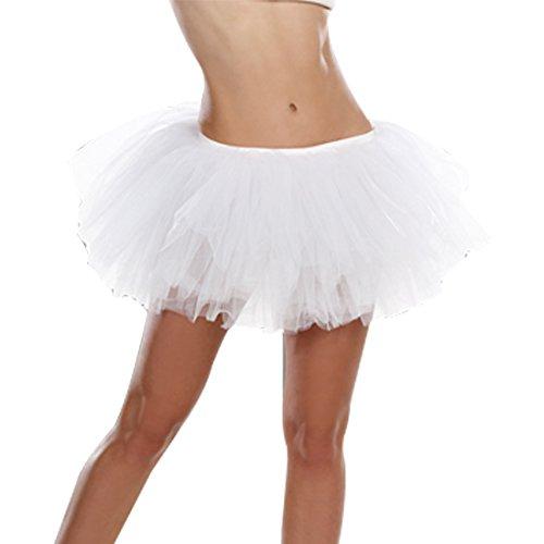 Dreamgirl Star Kartoffel-Stampfer Luzern 7846Light-ip Tutu Kostüm, weiß, One Size