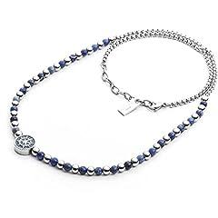 Idea Regalo - collana uomo gioielli 4US Cesare Paciotti Blue Bubbles trendy cod. 4UCL2038