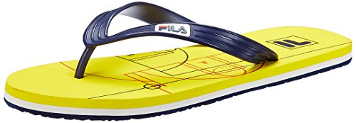 Fila Men's Game Flip Yellow and Navy Hawaii Thong Sandals -7 UK/India (41 EU)  available at amazon for Rs.224