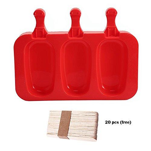 Silikonform Polo, Eisförmchen &-polig Hausgemachte Antihaft BPA und genehmigt für Haus DIY Popsicle Maker C