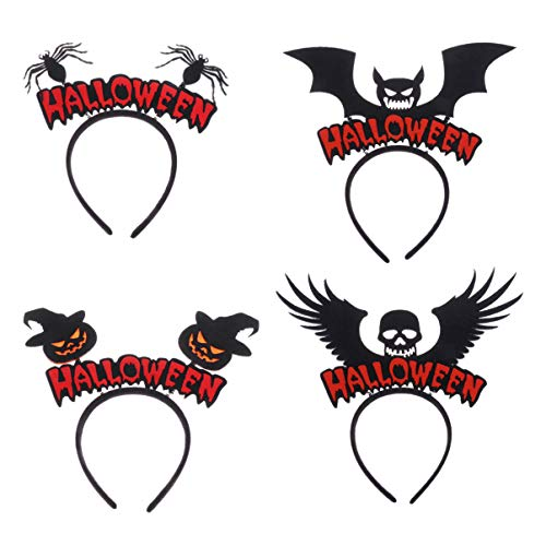 Amosfun 4 stücke halloween stirnband deeley boppers kostüm halloween cosplay kostüm haarschmuck (Bopper Kostüm)