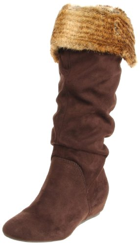 Report Enfield Femmes Toile Botte Dark Brown