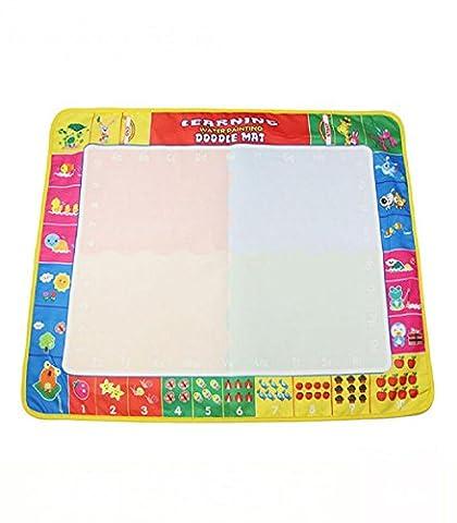 Yogogo- Jouet éducatif - Eau Mat Drawing Board Magic Pen Doodle Cadeau Toy Kids - 80x60cm
