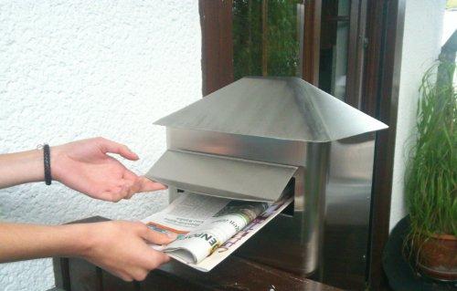 Großer Briefkasten von Giga aus Edelstahl - 3