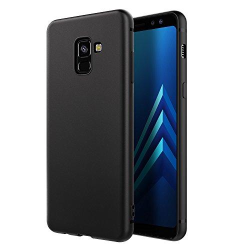 EasyAcc Hülle Case für Samsung Galaxy A8 2018, Weich TPU Matte Oberfläche Handyhülle Schutzhülle Schmaler Cover Kompatibel mit Samsung Galaxy A8 2018 / A530 - Schwarz