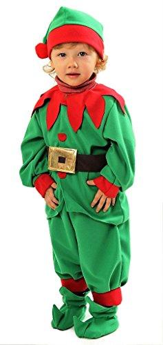 f Kostüm Kinder Deluxe - Elfen Kostüm Kinder - Elfenkostüm Kinder - Weihnachtskostüm Kinder (134/140) (Deluxe Elfen Kostüme)