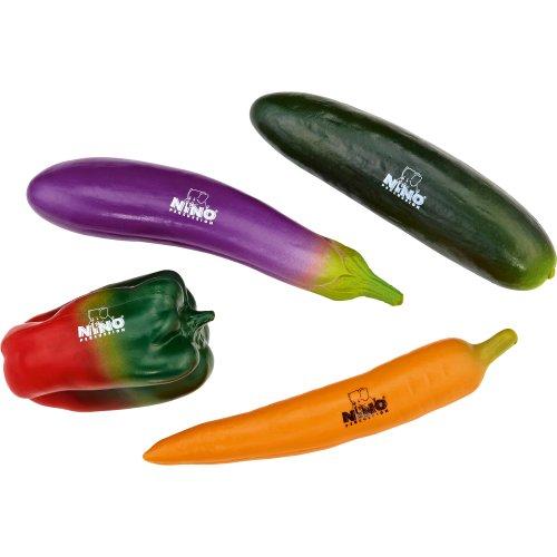 Nino Percussion NINOSET101 Gemüse Percussion Sortiment vierteilig