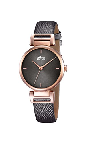 Lotus Women's Quartz Watch with Grey Dial Analogue Display and Grey Leather Strap 18229/3