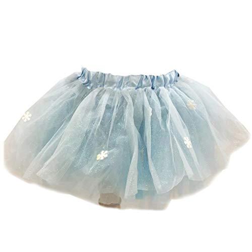 Menschen Alte Kostüm Kleinkind Für - Pennyninis Tüll-Rock für Kinder, Schneeflocke, glitzernd, für Mädchen, Pailletten, Tüll, Kleinkinder, Pettiskirt für Kinder von 3-8 Jahren
